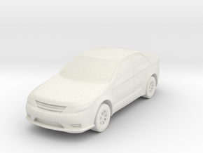Car At N Scale in White Natural Versatile Plastic