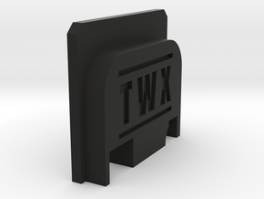 Bbu Backplate TWX in Black Strong & Flexible