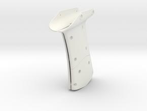 RVJET Landing Gear REAR (no tube) in White Natural Versatile Plastic