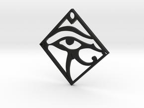 Eye of Anubis in Black Natural Versatile Plastic