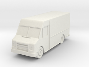 """Delivery Truck at 1""""=16' Scale in White Natural Versatile Plastic"""