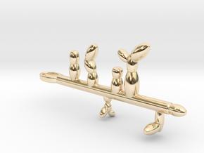 Ochroconis in 14k Gold Plated Brass