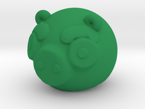 Green Piggy in Green Processed Versatile Plastic