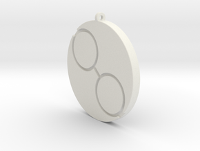 Tau Pendant in White Natural Versatile Plastic