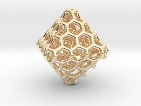 Octa Comb - 38mm in 14K Yellow Gold