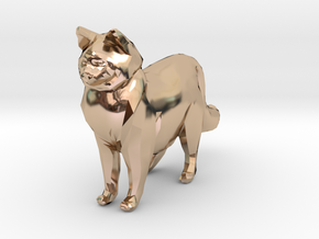 Ragdoll Kitty Toy Charm by Cindi (Copyright 2015) in 14k Rose Gold Plated