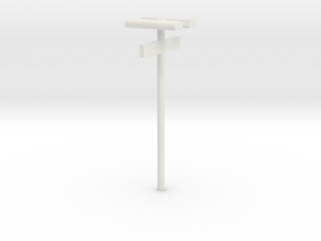 DSB Stations (dobbelt) lampe med kontrolafgiftsski in White Strong & Flexible