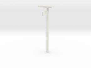 DSB Stations lampe med kontrolafgiftsskilt 1/87 in White Strong & Flexible