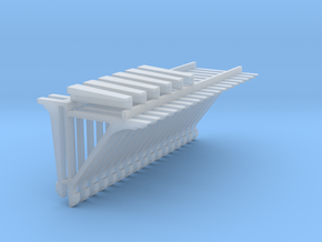 PEIR HO Scale 1904 Booking Station Roof Bracket/ C in Smooth Fine Detail Plastic