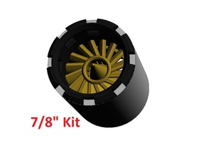 "7/8"" Turbine Kit 2/3 - Black ring in Black Natural Versatile Plastic"