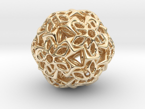BRO ICOSAHEDRON A1 PENDANT in 14k Gold Plated Brass