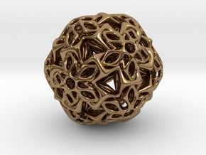 BRO ICOSAHEDRON A1 PENDANT in Natural Brass