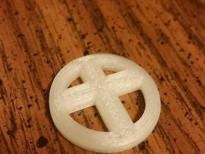 Cross Coin in White Strong & Flexible