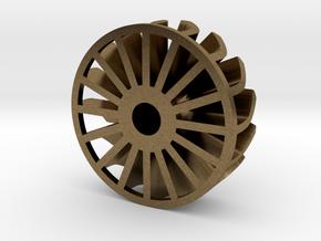 "1"" Turbine Kit 3/3 - Brass insert in Natural Bronze"