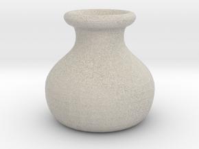 Simple Pot Small version (2 cm) in Natural Sandstone