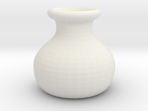 Simple Pot Small version (2 cm) in White Strong & Flexible