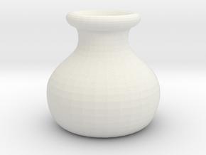 Simple Pot Small version (2 cm) in White Natural Versatile Plastic