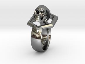 Hexa Skull Ring in Premium Silver
