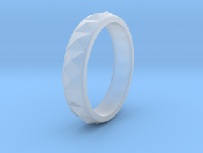 Faceted Ring. US 5.0 in Smooth Fine Detail Plastic