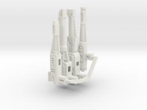 CW Stunticons G1 Gun Set in White Natural Versatile Plastic