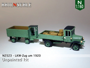 LKW-Zug um 1920 (N 1:160) in Frosted Ultra Detail