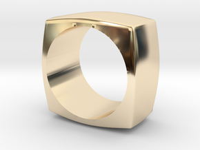 The Minimal Ring in 14k Gold Plated Brass