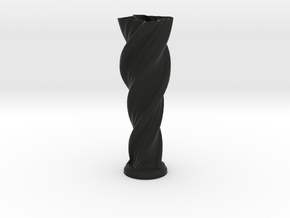 "Vase 'Anuya' - 30cm / 12"" in Black Natural Versatile Plastic"