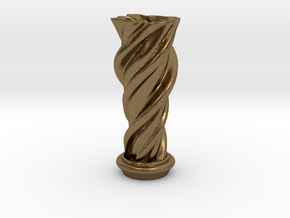"Vase 'Mini Anuya' - 5cm / 2"" in Natural Bronze"