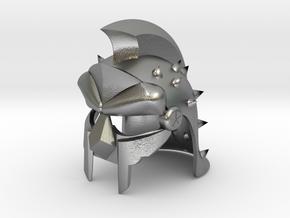 GLADIATOR HELMET REPLICA in Natural Silver