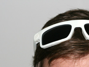 BoomGlasses in White Natural Versatile Plastic