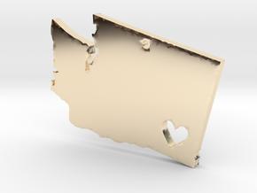 I love Washington Pendant in 14k Gold Plated Brass