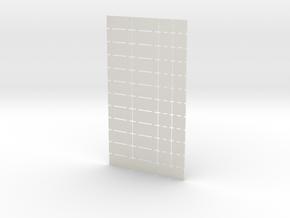 Platform Signs - 4mm in White Natural Versatile Plastic