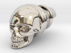 Silver Whistle of the Dead in Rhodium Plated Brass