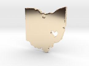 I love Ohio Necklace in 14k Gold Plated Brass