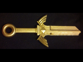 Zelda Master Sword House Key Blank - KW1/66 in Natural Brass