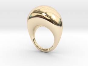 BulgeRingD20mm in 14K Yellow Gold