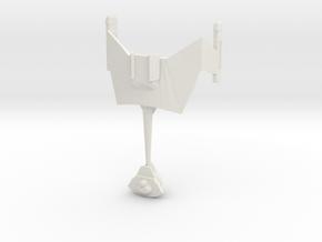 Klingon D7 in White Strong & Flexible