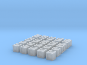20 Small Crates for 6mm, 1/300 or 1/285 in Smooth Fine Detail Plastic