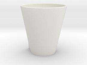 Squircle Tumbler in Porcelain in White Strong & Flexible