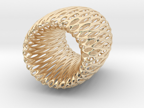 Torus Pendant in 14K Yellow Gold