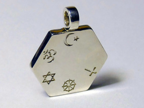 Statement for Peace: Muslim pendant in Polished Silver