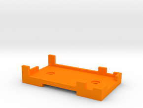 Rx Mount (for Futaba 7008) in Orange Processed Versatile Plastic