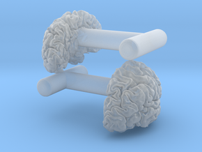 Brain cufflinks in Smooth Fine Detail Plastic