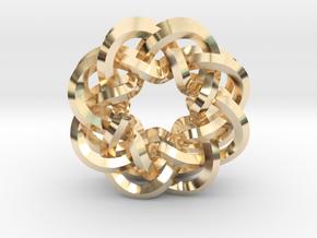 Woven Starburst Earrings - Small in 14k Gold Plated Brass