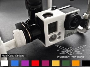 GoPro Zenmuse H3-2D Mounting Bracket 'Sleeve' in White Processed Versatile Plastic