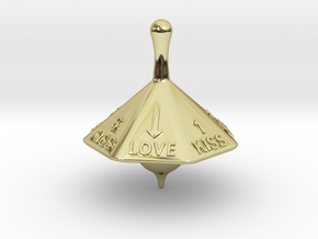 SPINNING TOP LOVE  in 18k Gold