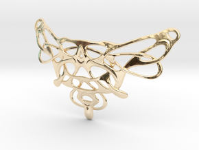 Fly in 14k Gold Plated Brass