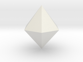 Hexagonal dipyramid in White Strong & Flexible
