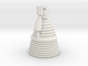 F1 Engine 1 100th Scale in White Natural Versatile Plastic