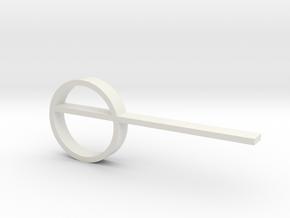 Keyring V2 in White Natural Versatile Plastic